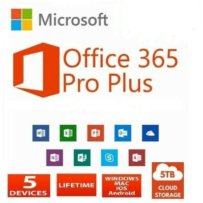 Office 365 Lifetime License For 5 Devices  - 5tb One Drive.