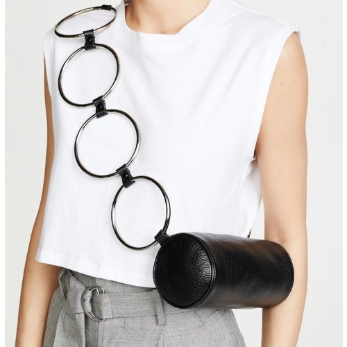 Clique Crossbody Shoulder Cylinder Bag-black.