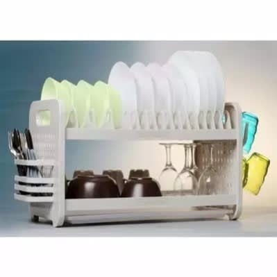 "22"" Plastic Plate Rack And Dish Drainer"