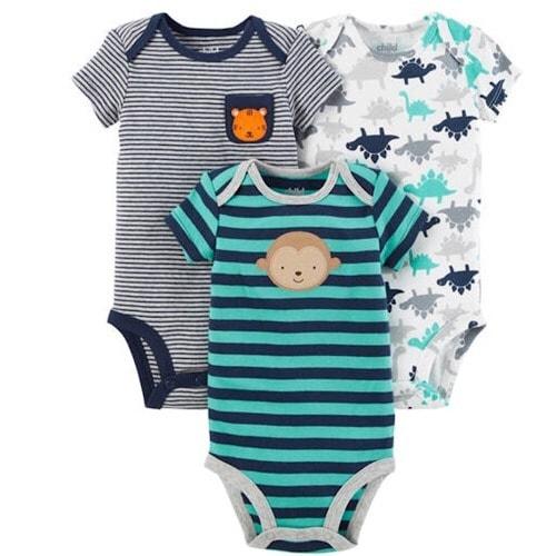 2bcbe6677656 Child Of Mine By Carter s Newborn Baby Boy 3 Pack Bodysuit