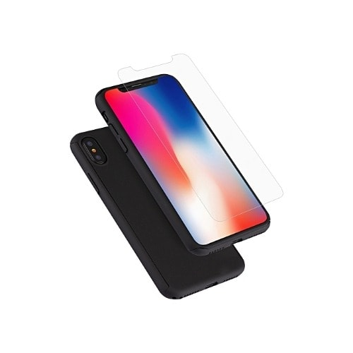 Ultra Thin 360 Case For iPhone Xs Max - Black