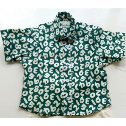 Boys' Patterned Print Shirt
