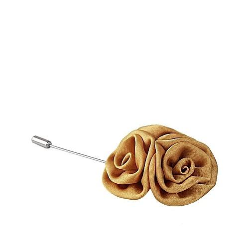 Lapel Pin Men's Rose Flower Suit Accessories - Gold