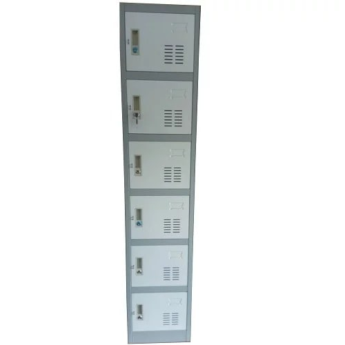 Single 6-Doors Worker's Metal Box Storage Lockers
