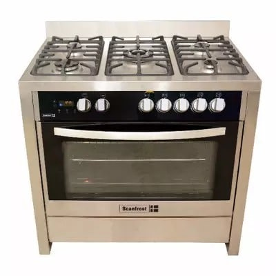 5 Gas Burners Gas Cooker - Sfc9502ss - Silver - 90x55cm.