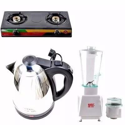 3 In 1 - Table Top Gas Cooker-electric Jug Kettle & Blender Home Bundle.
