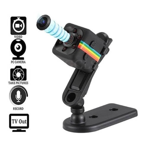 Mini Hd 1080p Rechargeable 12MP Camera With Motion Detection For Home, Office, Car