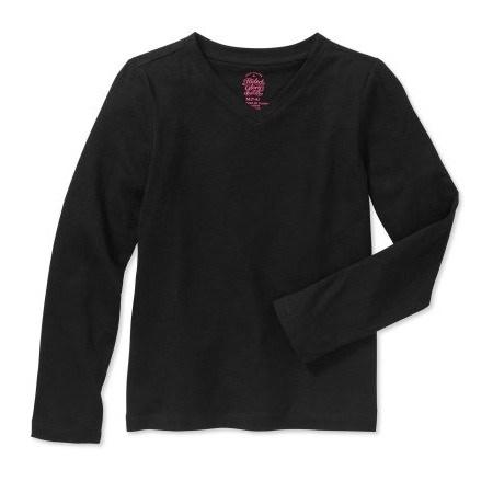 86f85c582 Faded Glory Girls' Long Sleeve T-Shirt - Black | Konga Online Shopping