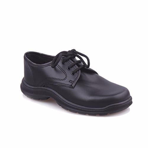 Bata Kids Leather School Shoe - Black