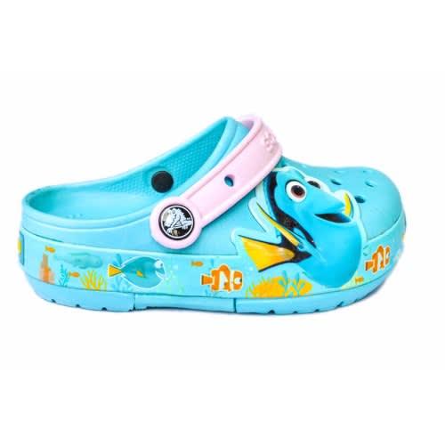818093541 Crocs Kids  Lights Finding Dory Clog- Blue