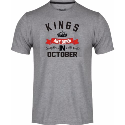 Kings Are Born In October Birthday T