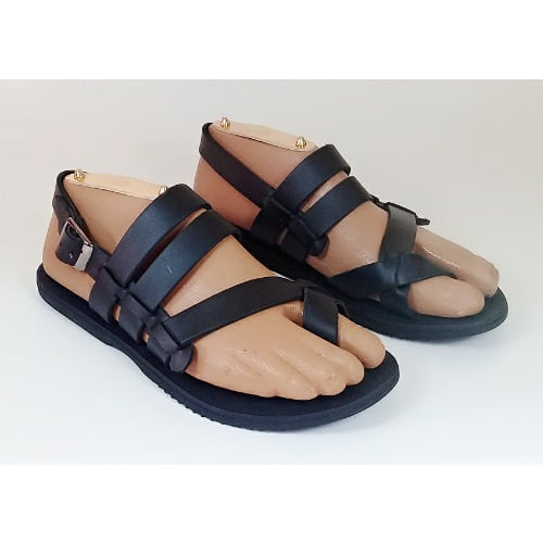 86a81662e71 Tee Mask Kinsley Men Leather Sandal   Free Shoe Care - Black