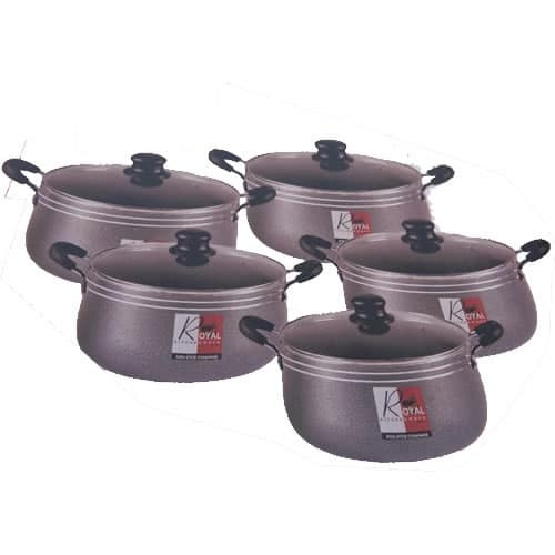 Kitchen Ware Aluminium Cookware Set 5 Pieces