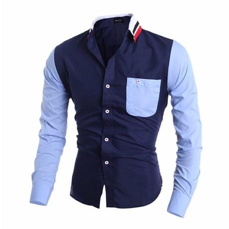 /K/n/Knitted-Collar-Men-s-Casual-Shirt---Navy-Blue-7025281.jpg