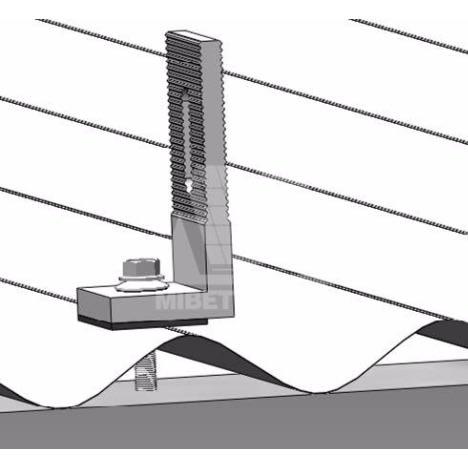 L-Foot Solar Panel Roof Mounting Rail Accessories - 4 Pcs