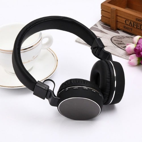 99a27afcf8b Sh12 Wireless Bluetooth Headset Stereo Headphone With Mic- Black ...