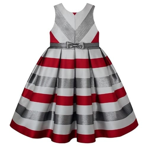 2c5595868b American Princess Baby Girl Metallic Stripe Dress - Multicolour ...