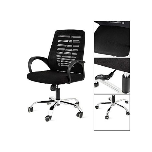 super popular fdf29 0a472 Office Chair, Heavy Duty Comfortable V Shape Medium Back Home Office Work