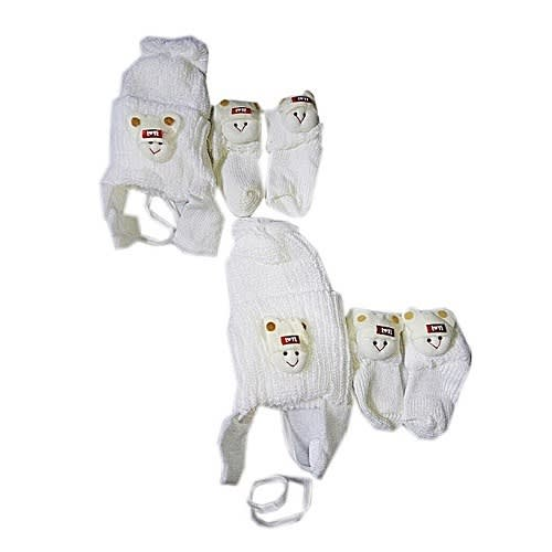 83a008326 Unisex Baby Cap And Socks -2 Pairs -white