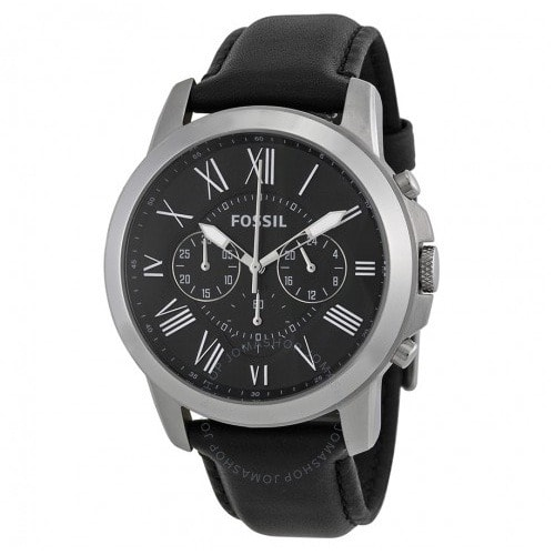 Fossil Grant Black Male Wrist Watch