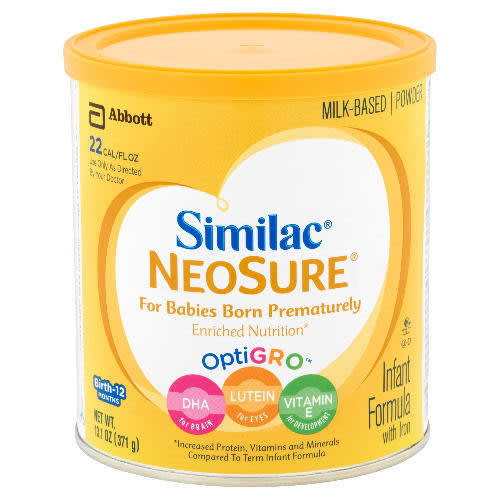 Infant Formula With Iron For Premature Babies