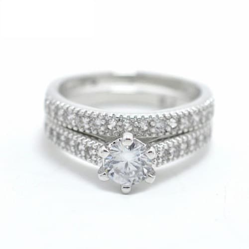 Women S Cubic Zirconia Wedding Engagement Ring