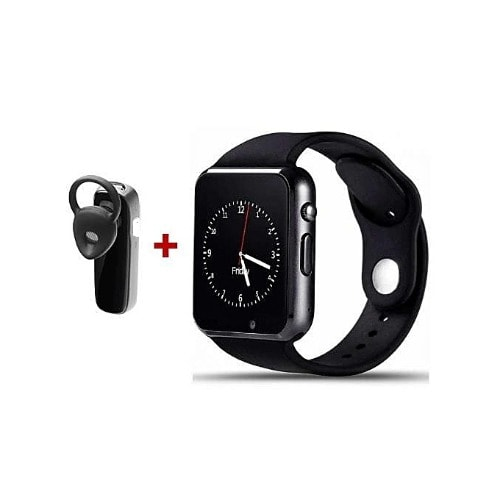 A1 Smart Watch With Bluetooth Headset Lng - Black