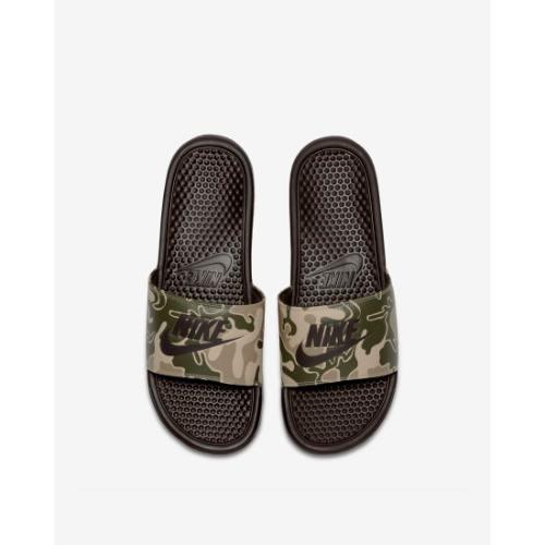 online retailer dbc75 d7400 Benassi JDI Printed Velvet Brown Slides