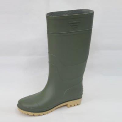 Rain Boots - Green Upper & Yellow Sole