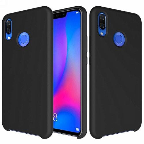 newest 263fb 05c42 Silicone Protective Case For Huawei Nova 3i - Black