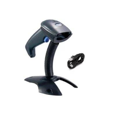 Barcode Scanner With Handfree Stand - Black