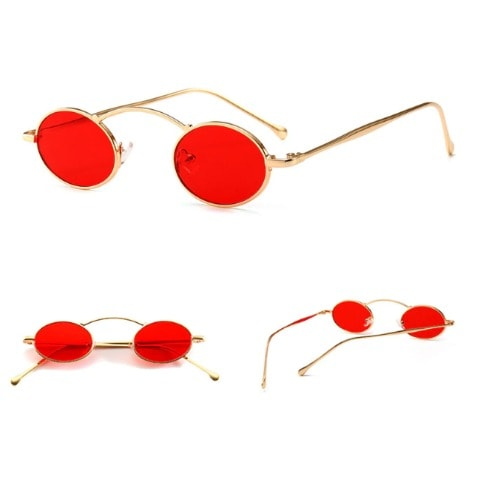 f2742bed324f Wide Bridge Round Sunglasses- Red.