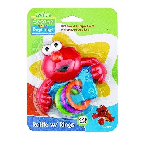 New In Package SESAME STREET BEGINNINGS Teether Rattle 0-18 Mos