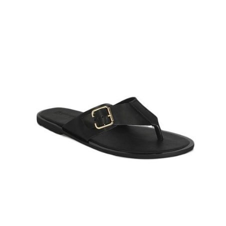 Men's Leather Pam Palm Slippers - Black
