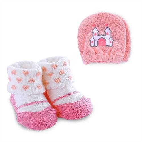 4b9cee116 Carter's Child Of Mine Newborn Baby Girl Princess Mitten And Bootie ...