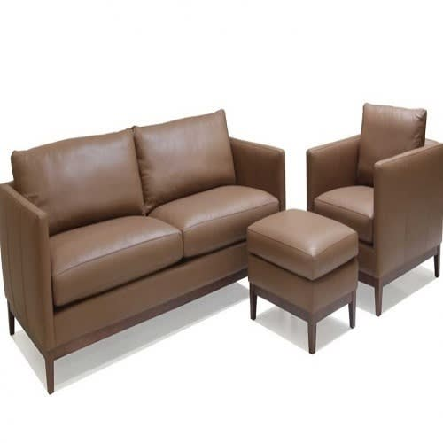 Peachy Trevor 4 Seater Leather Sofa With Additioanl Ottoman Uwap Interior Chair Design Uwaporg