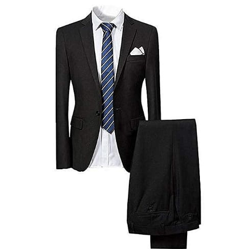 Men's Fitted Made In Turkey Suit - Black