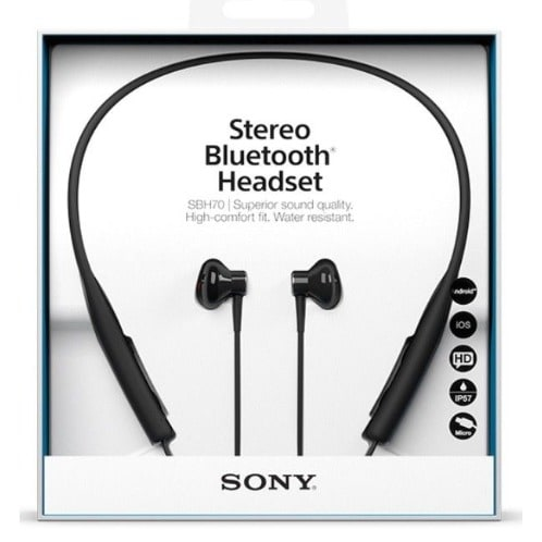 c84cadca996 Sony Sbh70 Water Resistant Sports Bluetooth Headset With NFC - Black ...