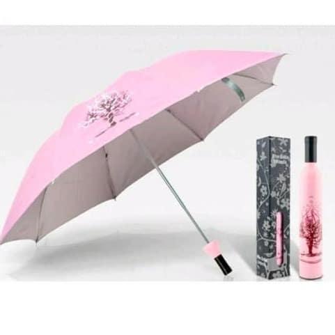 Wine Bottle Umbrella - Pink