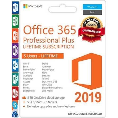 Microsoft Office 365 Professional Plus 5tb Onedrive Etc 1 License Key.