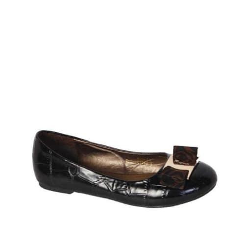 d0cdf1592c9 Las Bow Detailed Flat Shoes Black Konga Online Ping
