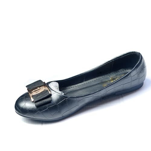 02e0bc363 Ladies Flat Shoe - Black   Konga Online Shopping