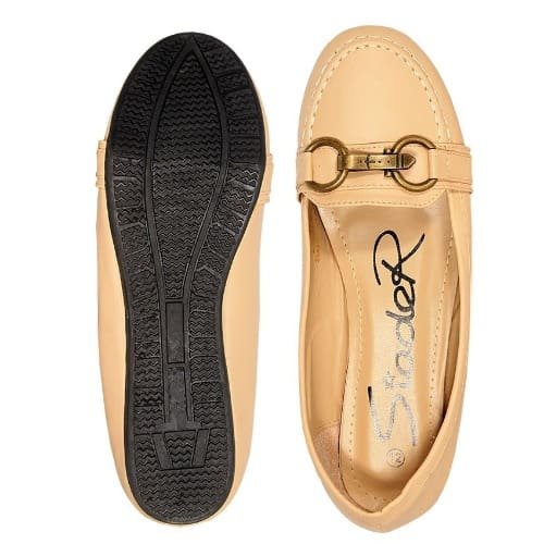 /L/a/Ladies-Gold-Bow-Leather-Flat-Shoe---Nude--6796745_1.jpg