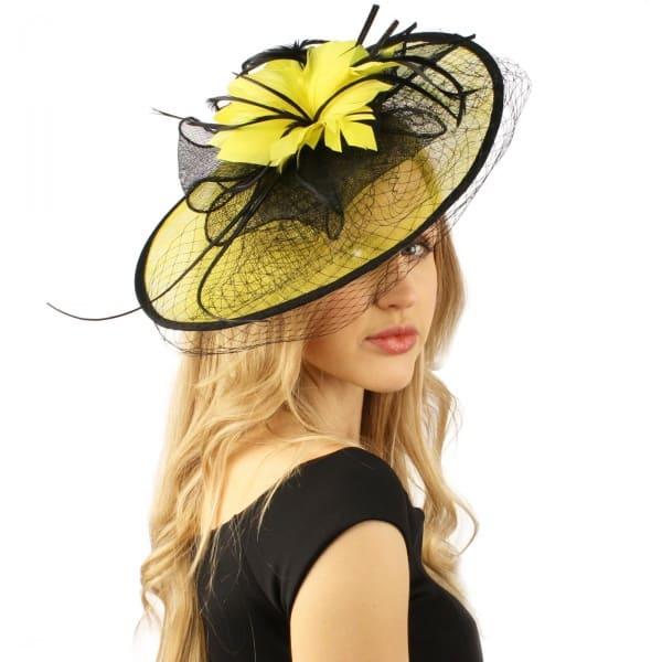 93dece2b923c9  L a Ladies-Hat-Fascinator---Yellow-Black
