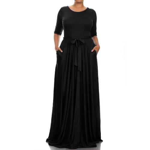 /L/a/Ladies-Maxi-Dress---Pockets-Belt---Black-6750122_6.jpg