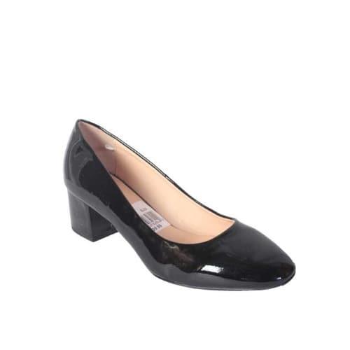 Jumex Ladies Mid-Heel Patent Leather