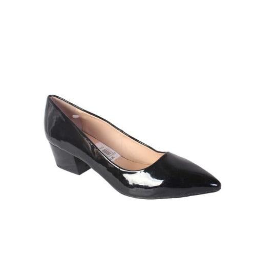 Jumex Ladies Mid Heel Patent Leather