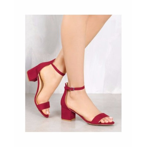 096ea7ade04 Ladies Mini Block Heeled Sandal - Red