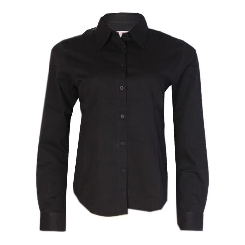 cd2da7d3 Ladies' Plain Long Sleeve Shirt - Black | Konga Online Shopping