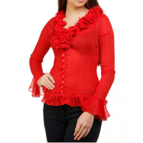 /L/a/Ladies-Pleated-Ruffle-Neck-Top---Red-7732265.jpg